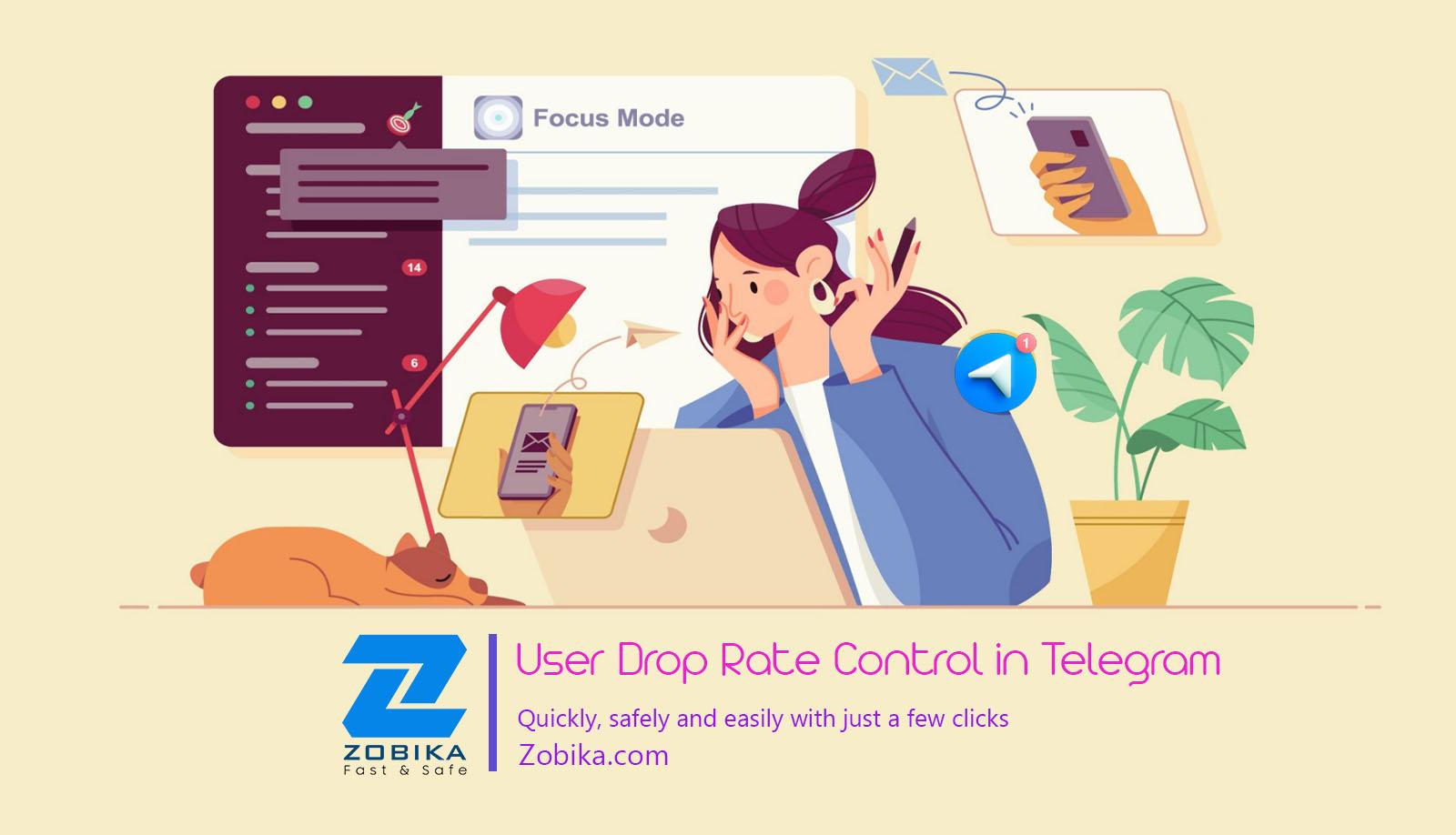 user drop rate control in telegram