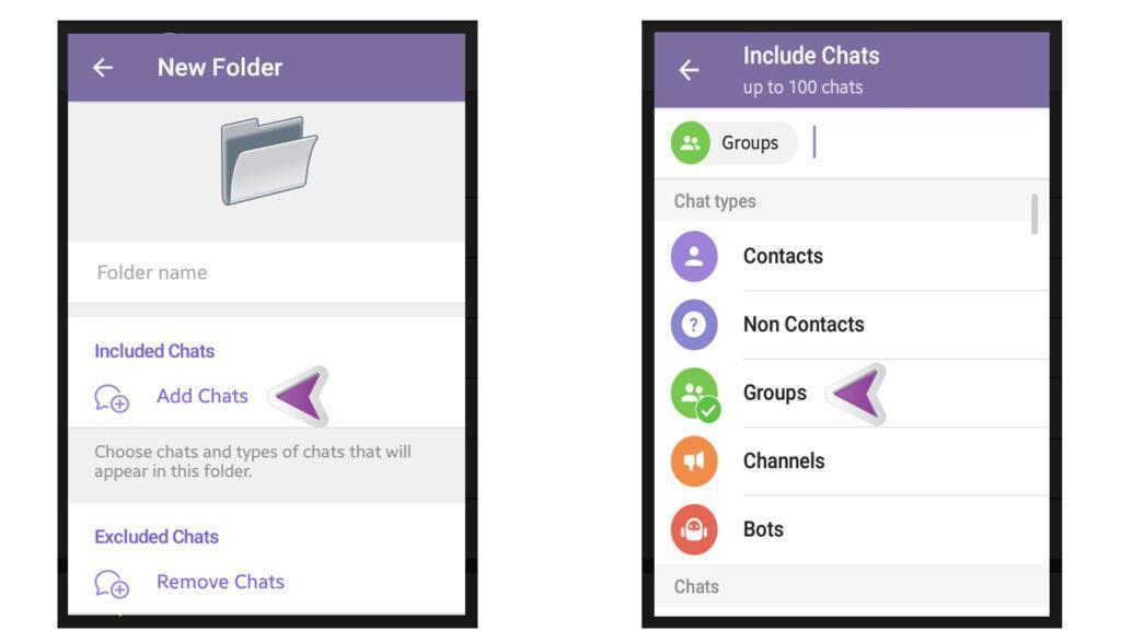 How to Create folders in Telegram